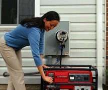 Portable generator installation