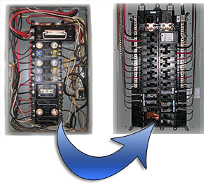 upgrading from a fuse panel to breaker panel